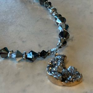 Geostone and beaded necklace